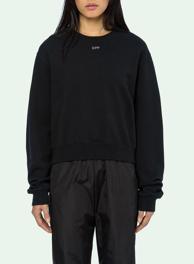 OFF-WHITE | Shifted Crewneck Graphic Sweatshirt With Crystals