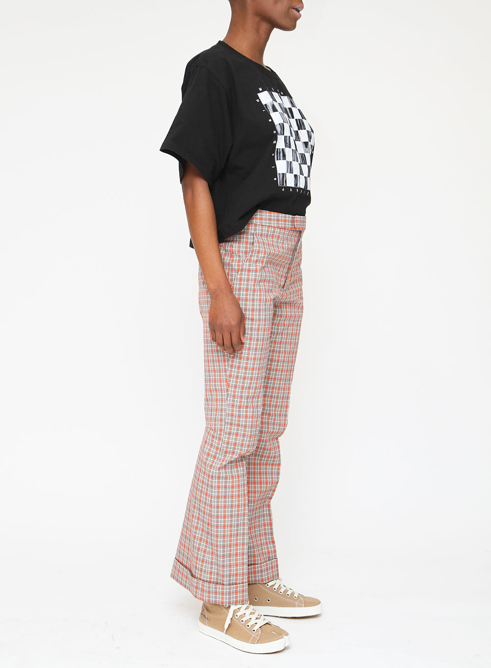 MAISON MARGIELA | Fluo Check Flair Pants