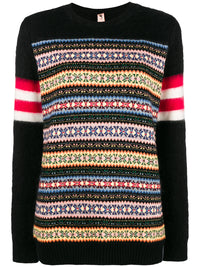 N°21 | Color-Block Sweater With Fair Isle Stripes
