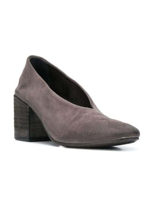 MARSÈLL | Taporsolo Chunky Heel Pumps in Grey