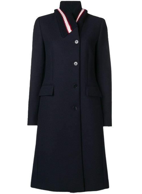 STELLA MCCARTNEY | Single-Breasted Ribbed-Collar Wool Coat