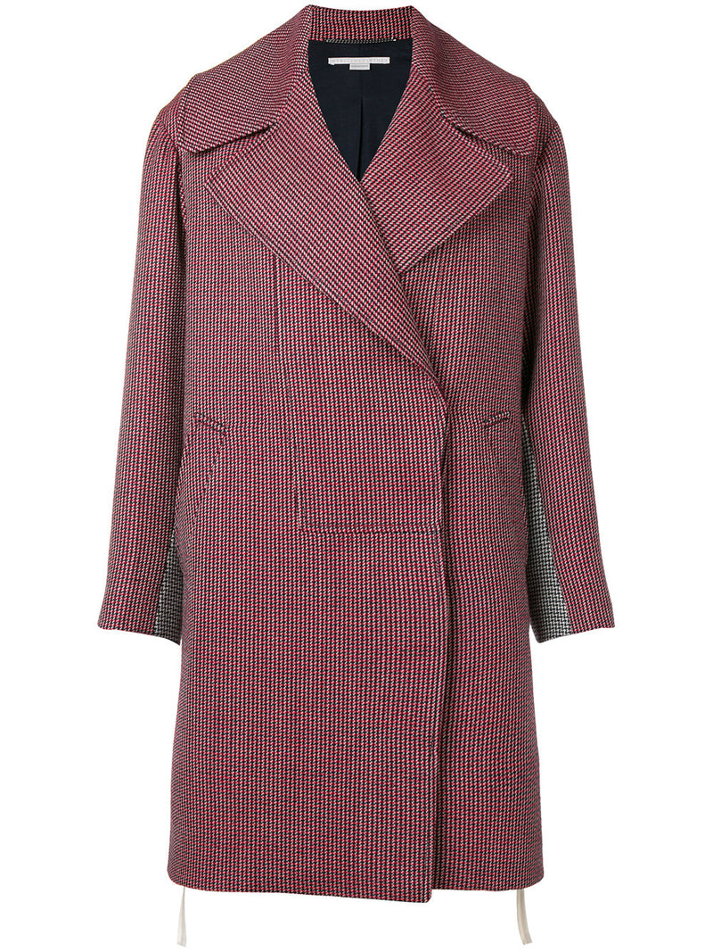 STELLA MCCARTNEY | Single-Breasted Checkered Wool/Silk Coat