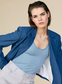 TIBI | Linen Viscose Cropped Jacket