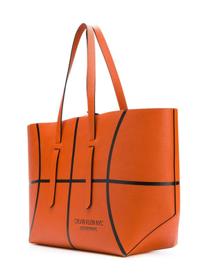 CALVIN KLEIN 205W39NYC | Leather Basketball Tote Bag