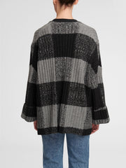 WHITE + WARREN | Plaid Open Cardigan