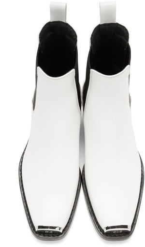 CALVIN KLEIN 205W39NYC | Western Claire Boots in White