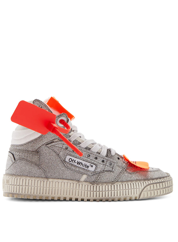 OFF-WHITE | Glitter Off Court 3.0 Sneaker in Silver