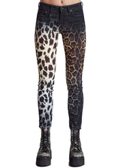 R13 | Alison Skinny Black Faded Leopard Pants