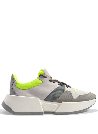MM6 MAISON MARGIELA | Multicolor Sneakers in Grey & Neon Yellow