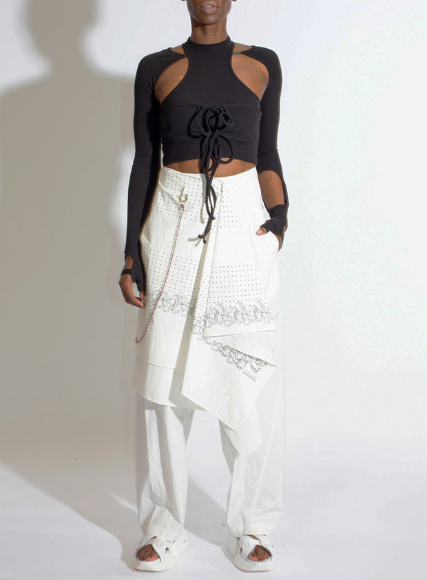HYEIN SEO | Scarf Pants in White