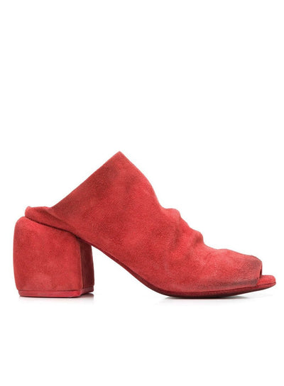 MARSÈLL | 'Paparone Sandalo' Open Toe Heels in Red