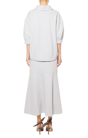 TIBI | Frisse Sculpted Polo Top