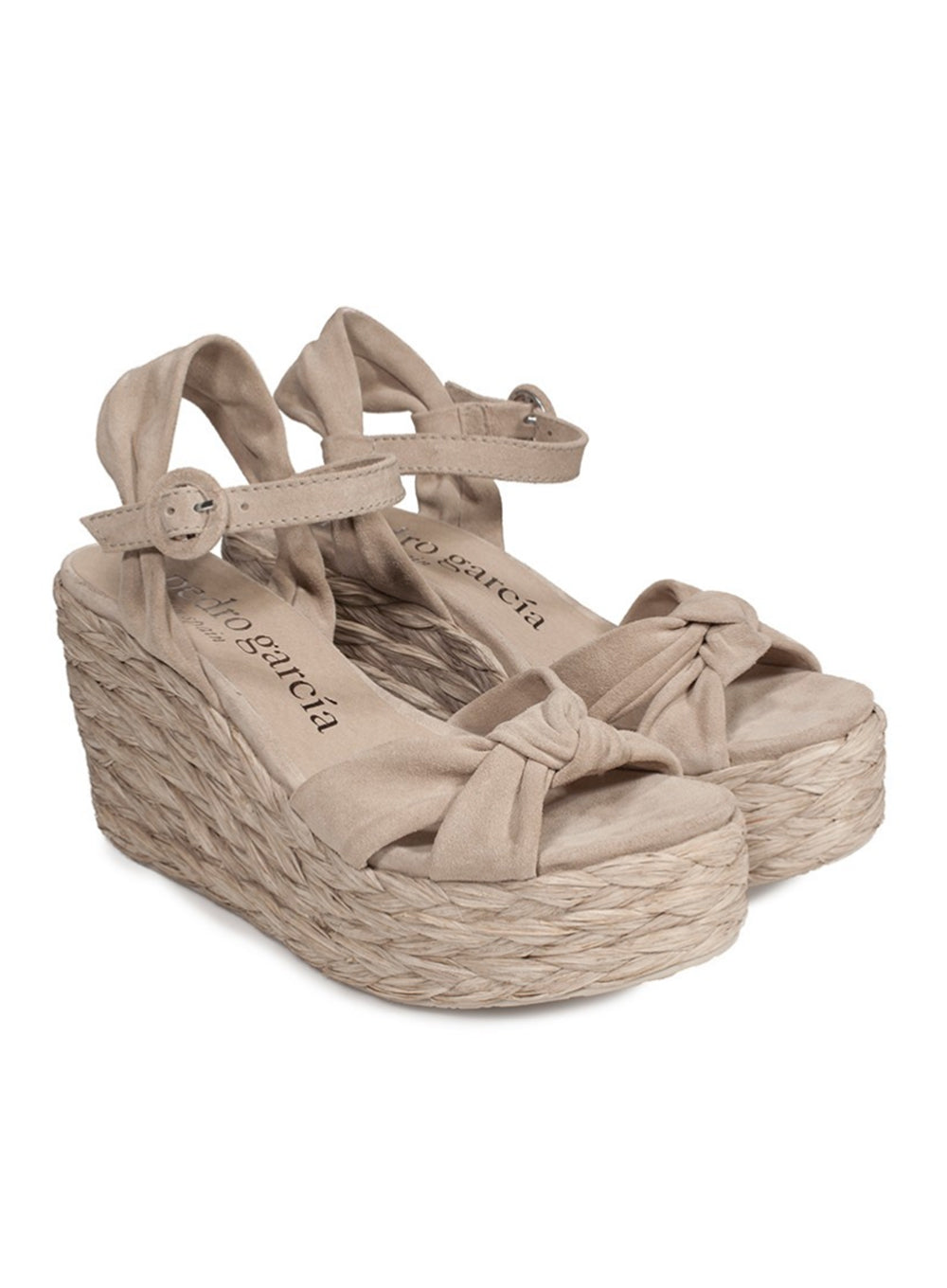 PEDRO GARCIA | 'Darril' Knotted Midi Wedge Espadrille