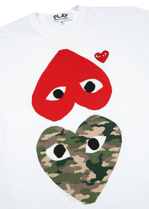 COMME DES GARÇONS PLAY | Camo Small Heart T-Shirt in Red
