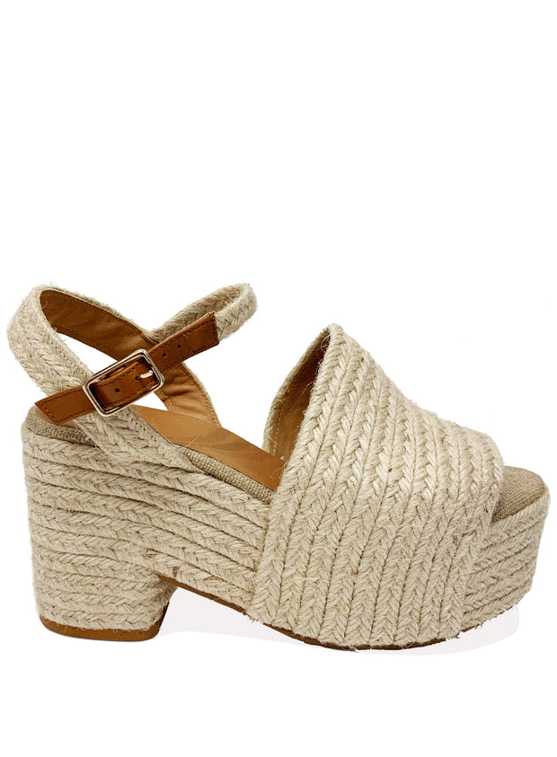 CASTANER | Bamboo Platform Espadrille With Wedge