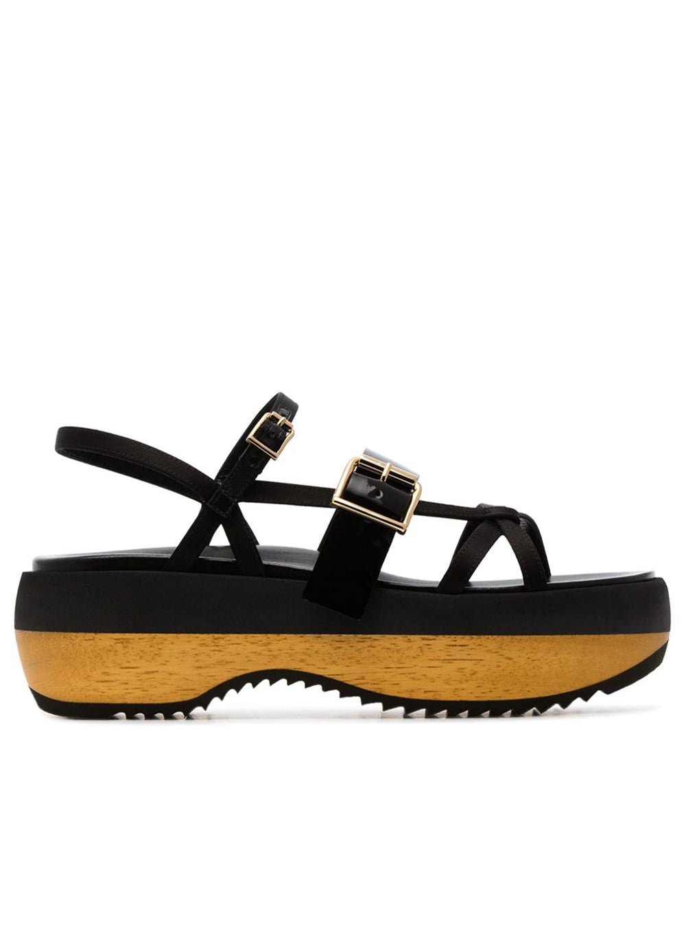 MARNI | Leather Flatform Sandals in Black