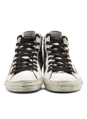 GOLDEN GOOSE | Golden Goose Gunmetal/Silver Shimmer High Top Francy Sneakers