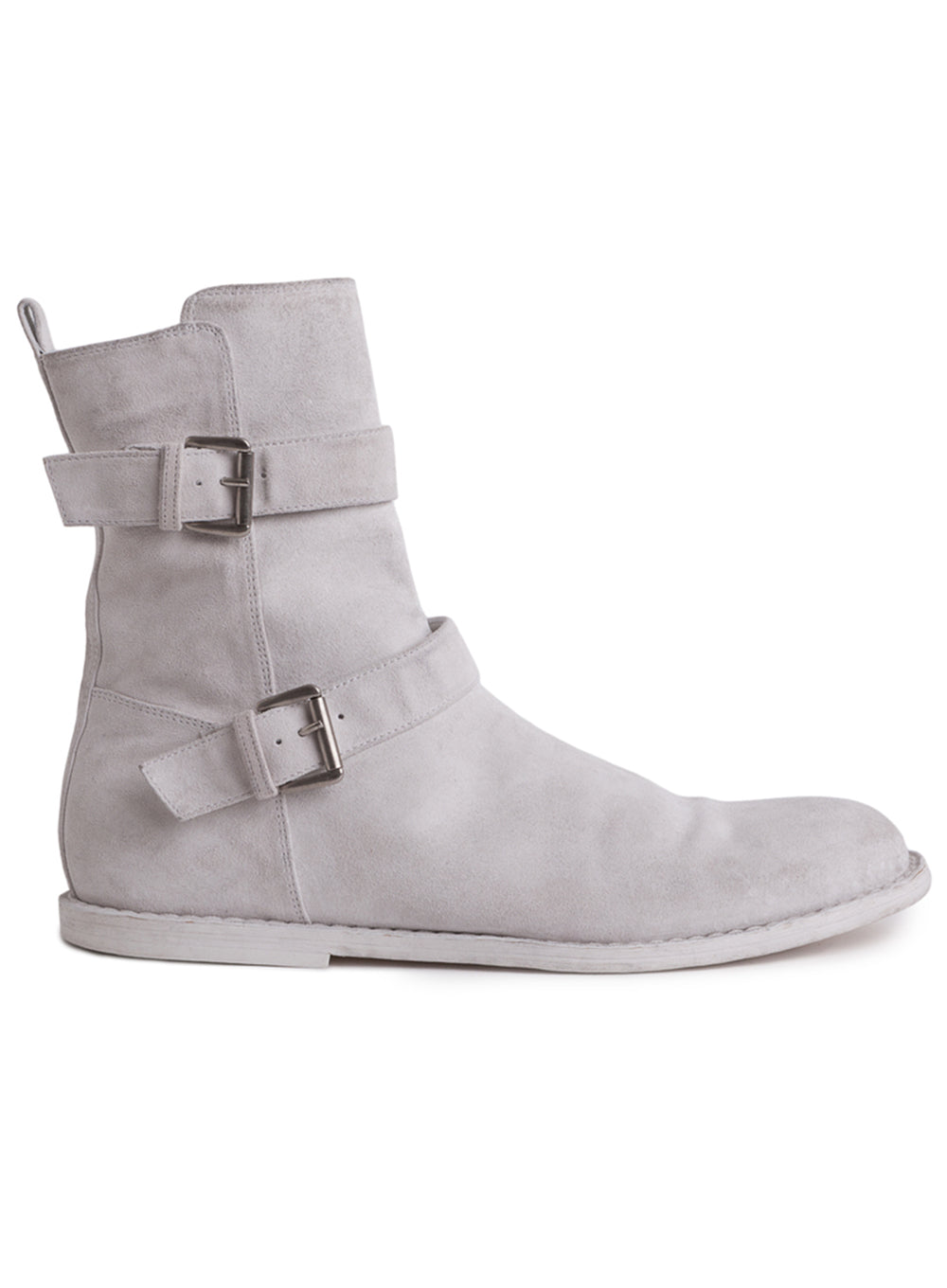 ANN DEMEULEMEESTER | Scamosciato Washed Bianco Ankle Boots