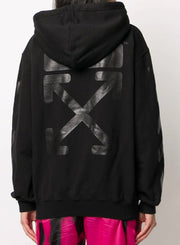 OFF-WHITE | Diag Hoodie Zipped in Black
