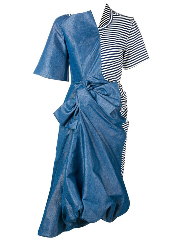 JUNYA WATANABE | Asymmetric Midi Denim Dress