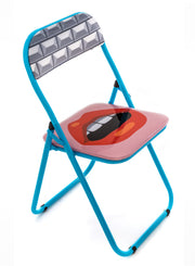 "SELETTI | ""Studio Job"" Mouth Folding Chair"