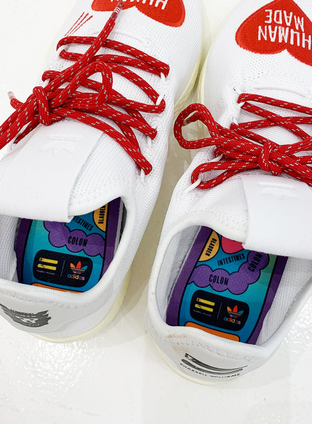 HUMAN MADE x ADIDAS | PREORDER | Pharrell Williams Tennis Hu Sneakers with Red Heart