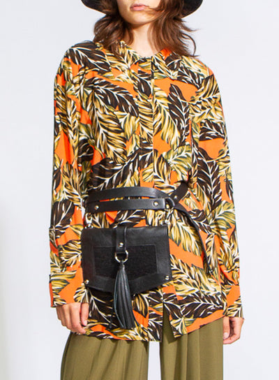 NORMA KAMALI | Falling Leaves Boyfriend Shirt