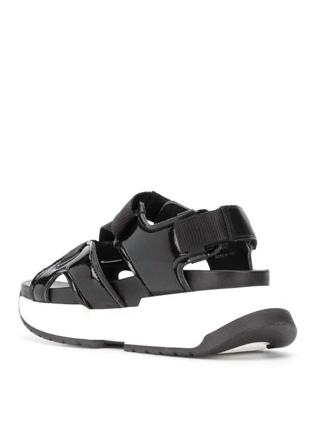 MM6 MAISON MARGIELA | Platform Sport Sandals in Black