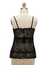 GOLDHAWK | All Lace Pyramid Cami in Black