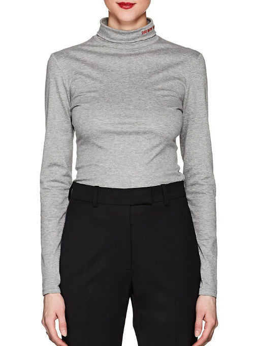 CALVIN KLEIN 205W39NYC | Turtleneck Top With Logo In Light Grey