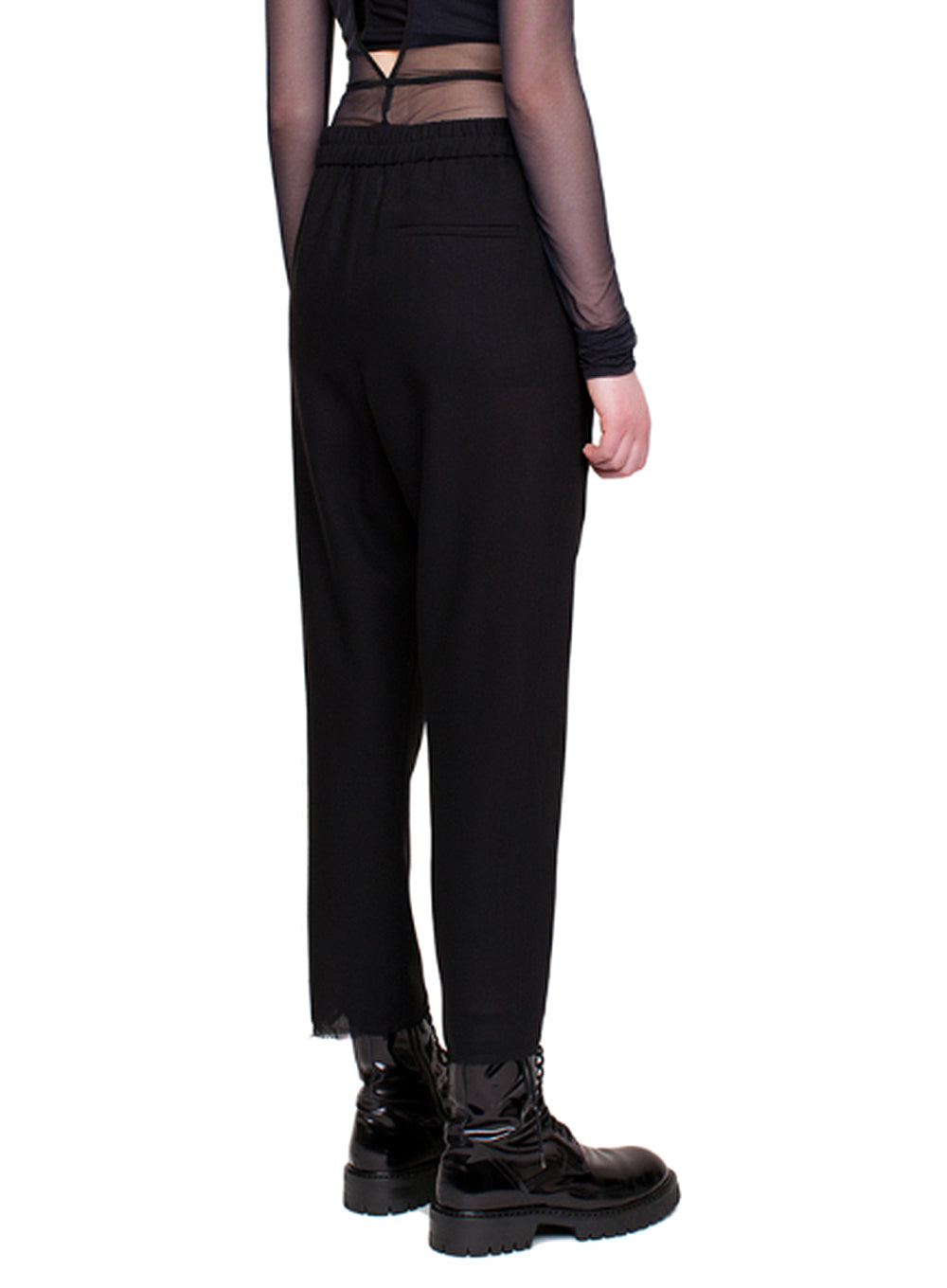 ANN DEMEULEMEESTER | Black Casual Lightlaine Trousers