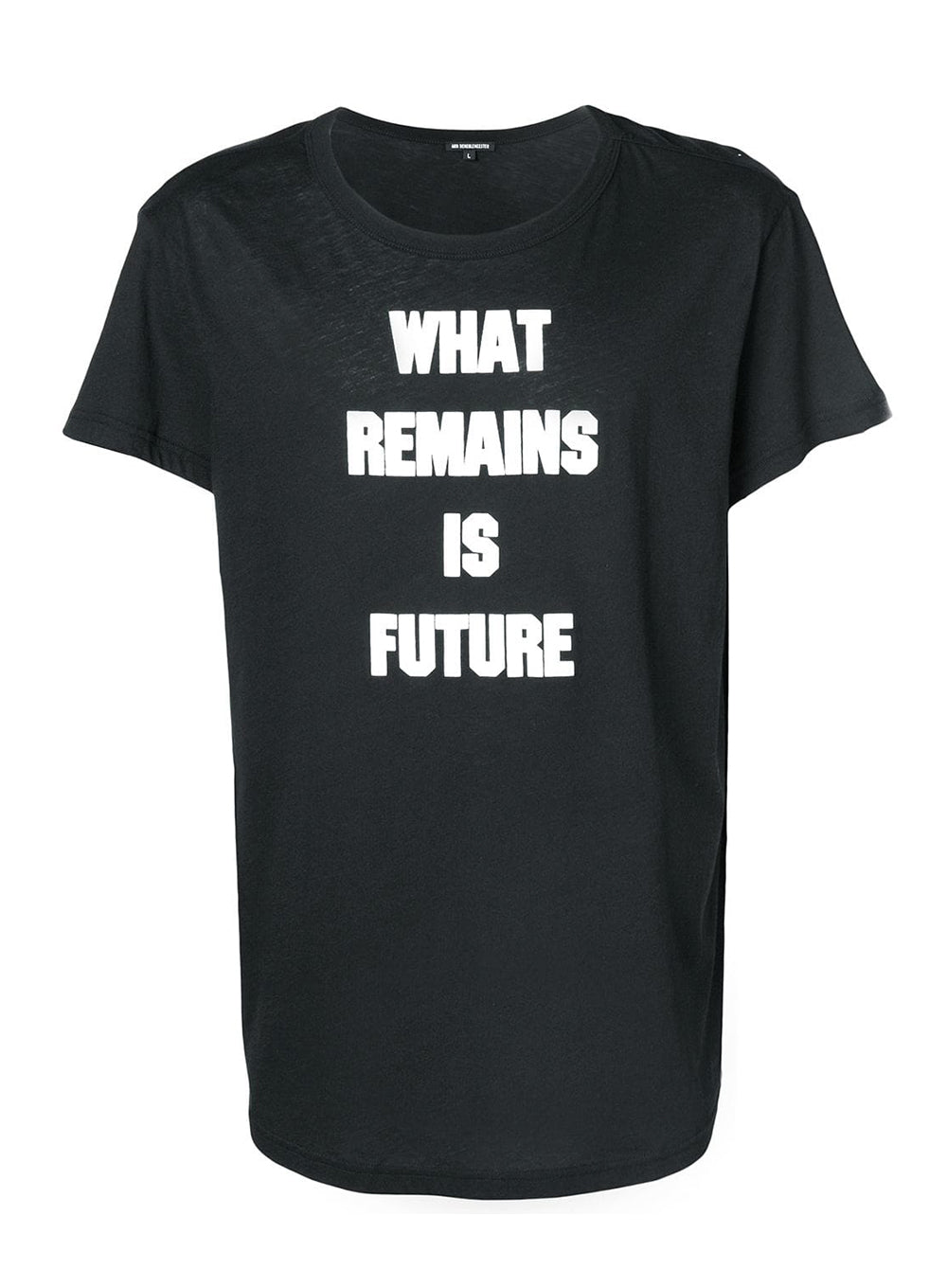 ANN DEMEULEMEESTER | Black/White 'What Remains Is Future' Graphic T-Shirt