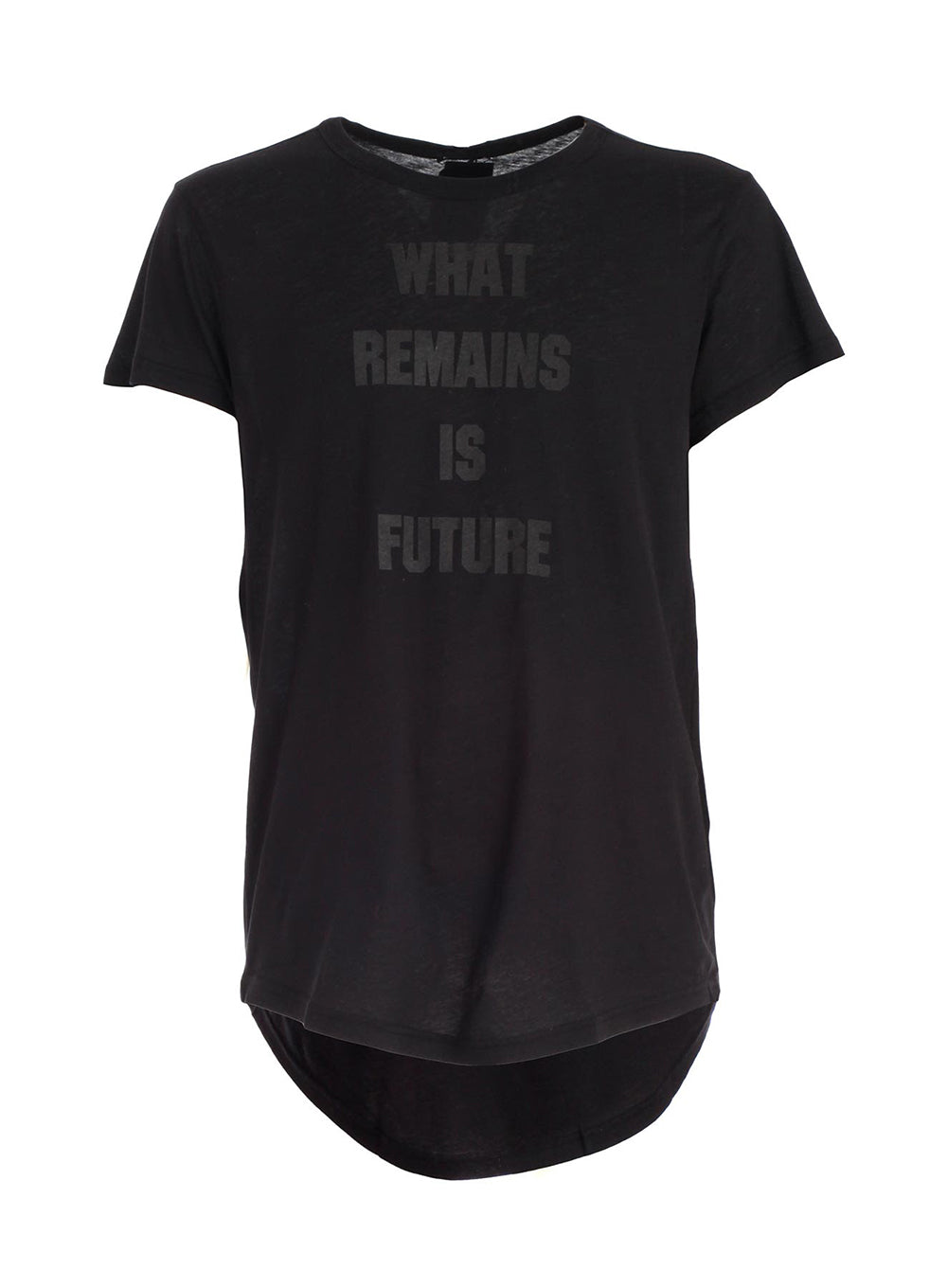 ANN DEMEULEMEESTER | Black 'What Remains Is Future' Graphic T-Shirt