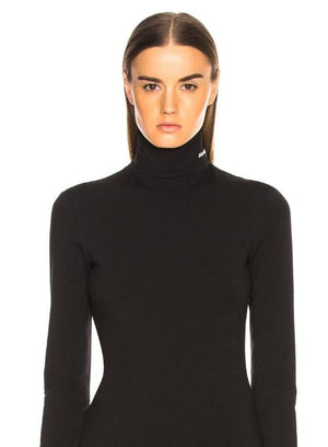 CALVIN KLEIN 205W39NYC | Turtleneck Top With Logo In Black