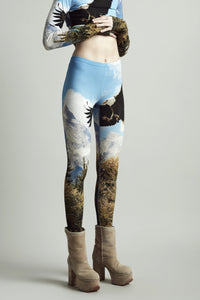 R13 | Graphic Print Eagle Leggings