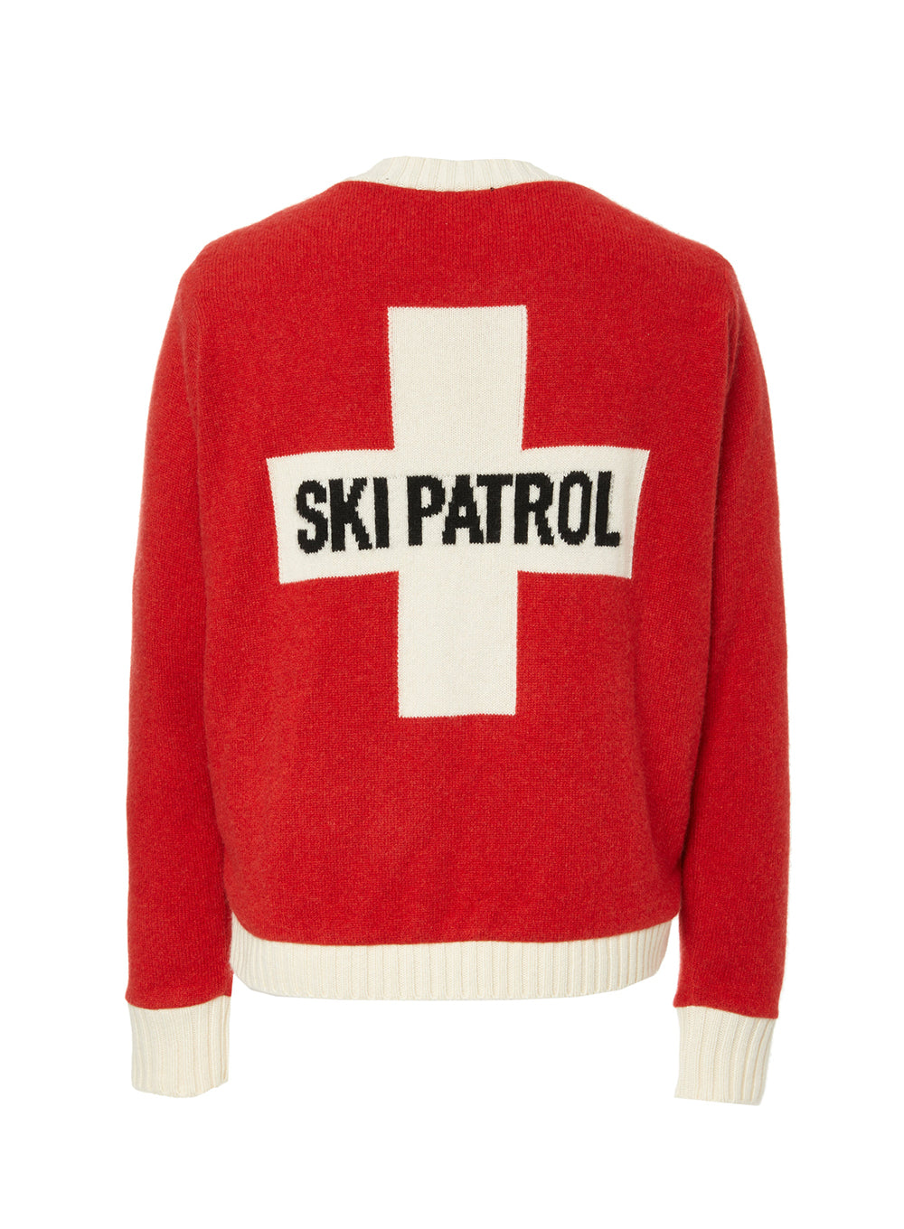 ELDER STATESMAN | 'Ski Patrol' Cashmere Sweater in Red