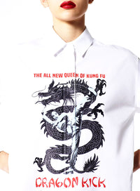 KENZO | Dragon Casual Fit Button Up Shirt in White