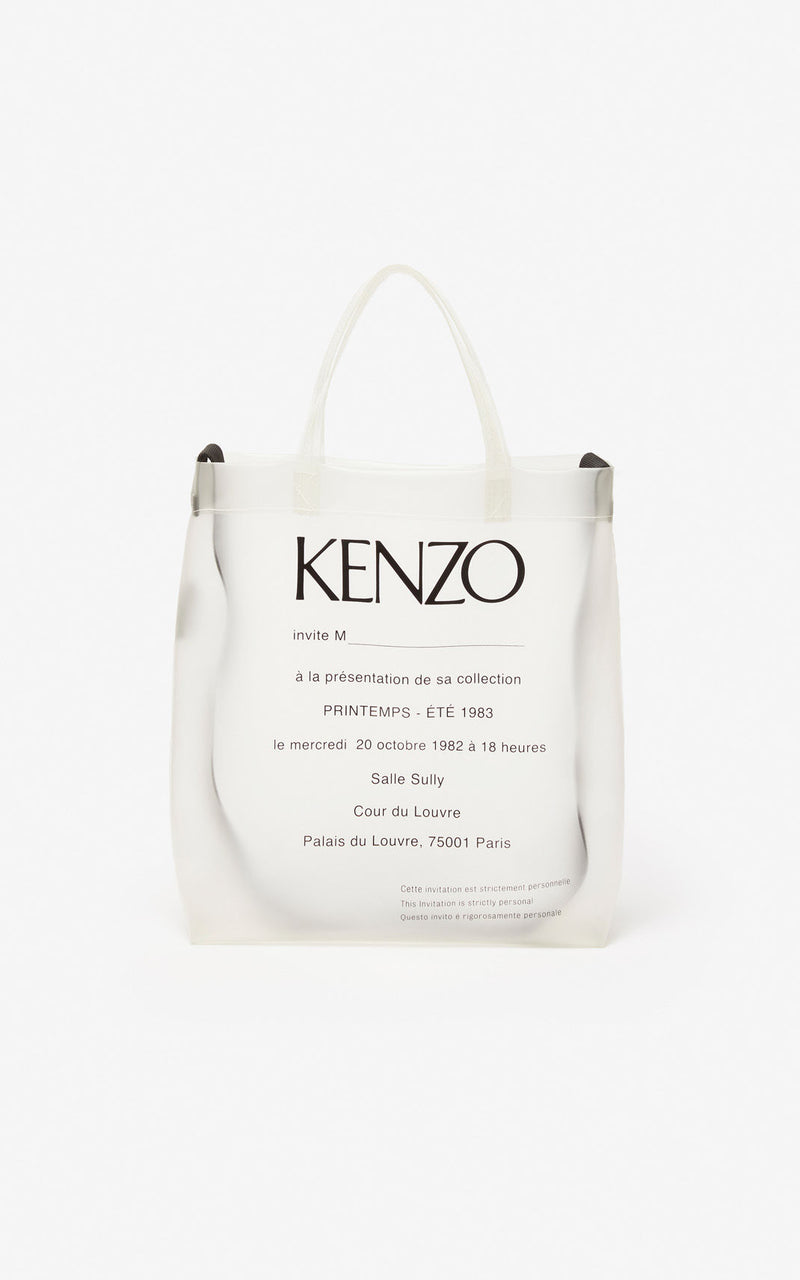 KENZO | Translucent Invitation Tote Bag