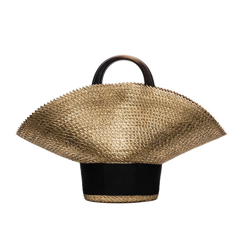EUGENIA KIM | Gold Flavia Hat Bag