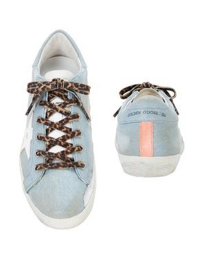 GOLDEN GOOSE | Shiny Jeans Superstar Sneaker