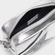 GOLDEN GOOSE | 'Star' Bag in Silver With Crystal Star