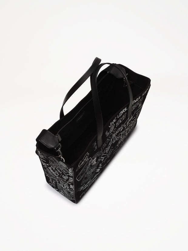 GOLDEN GOOSE | 'California' Canvas Tote Bag in Black