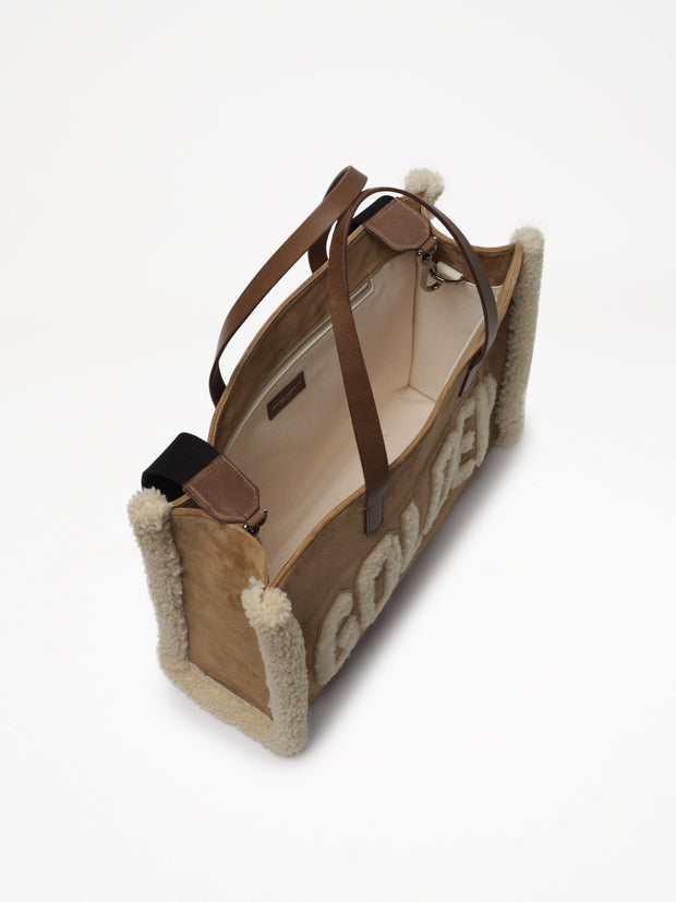 GOLDEN GOOSE | 'California' Canvas Tote Bag in Golden Merino