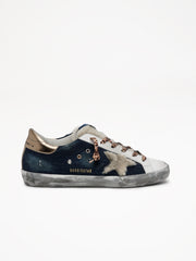 GOLDEN GOOSE | Superstar Denim/Shearling Sneaker