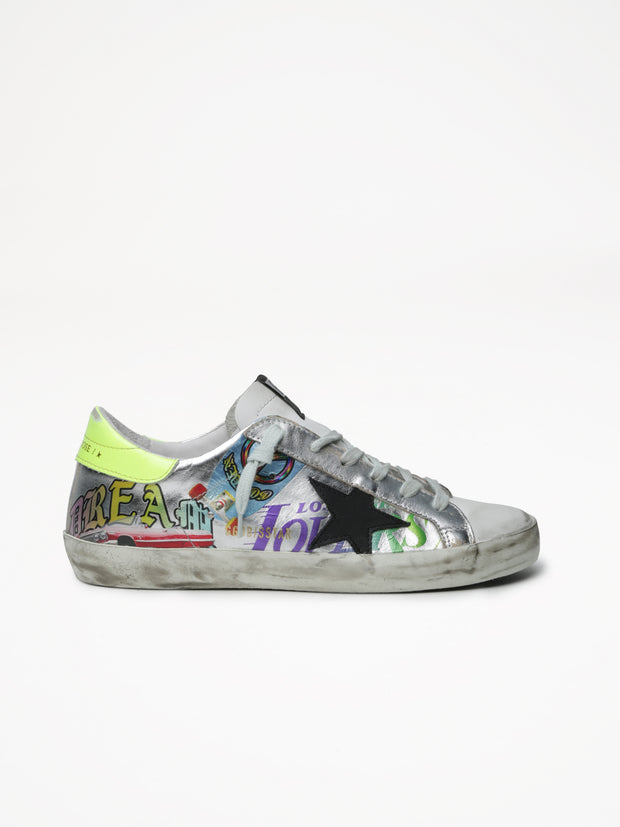 GOLDEN GOOSE | Superstar Laminated Sneaker in Silver