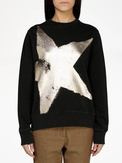 GOLDEN GOOSE |  Athena Golden Star Crewneck Sweatshirt