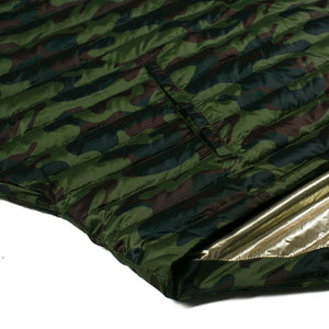 THINK ROYLN | Cropped Hi-Low Poncho in Camo/Gold