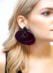 MONIES | Monies Perspex Earrings in Purple