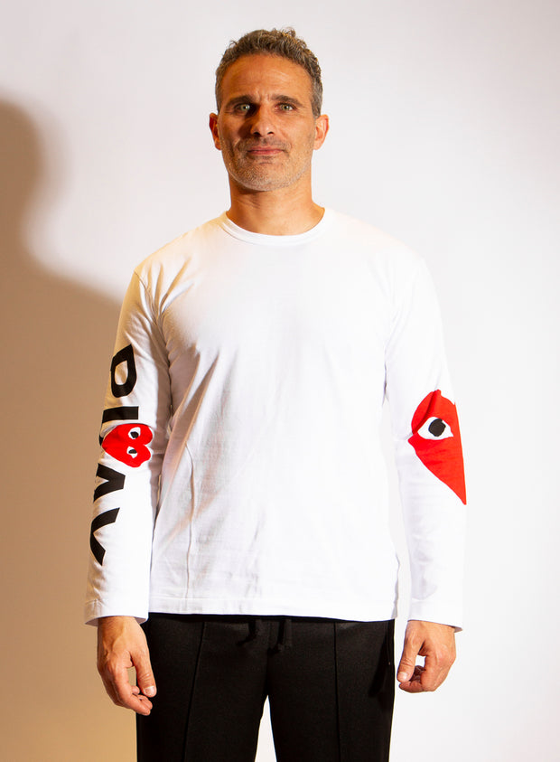 COMME DES GARÇONS PLAY | Mens Long Sleeve Heart T-Shirt