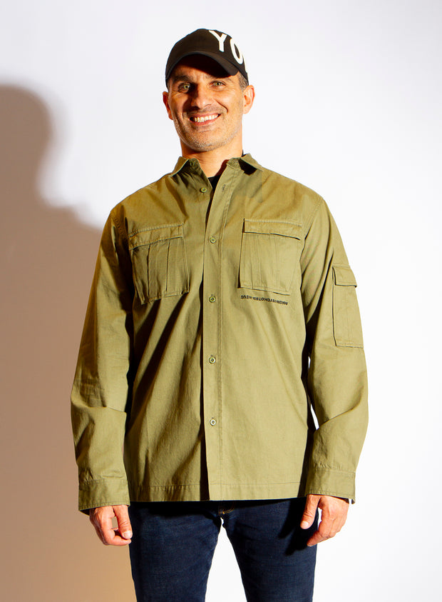MAHARISHI | 'Life & Death' Green Shirt with Embroidery